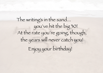 3889 30th Birthday, Ocean Beach Greeting Card