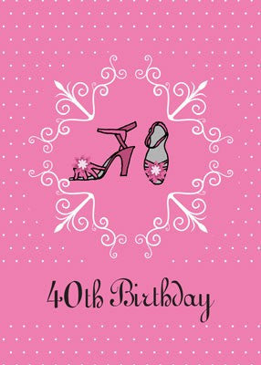 4151 40th Birthday Pink Shoes