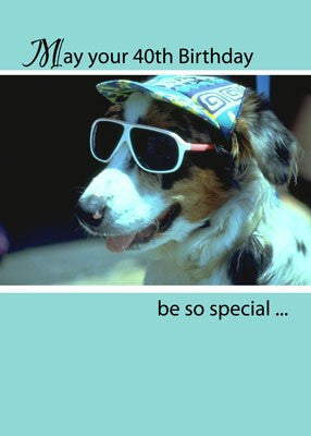 4126 40th Birthday Dog, Sunglasses, Humor
