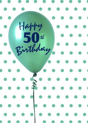 4332 50th Birthday Balloon, Green