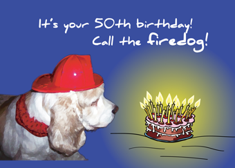 2693 50th Birthday Fire Dog