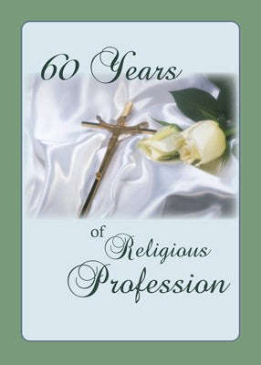 4364 60 Years of Religious Profession, Cross, Rose