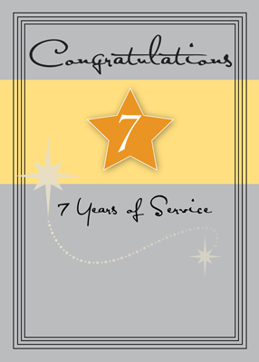 3989 7 Years of Service Star