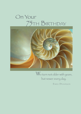 2689 75th Birthday Spiral Shell