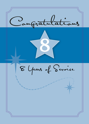 3990 8 Years of Employee Service Star