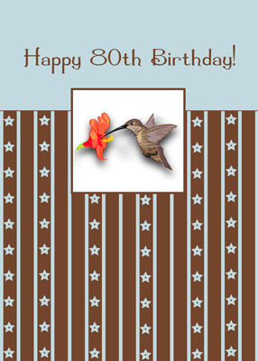 3884 80th Birthday Hummingbird