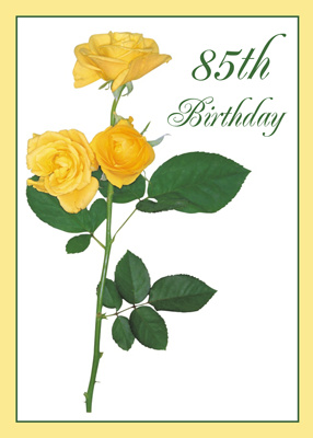 2721 85th Birthday Yellow Rose Flower