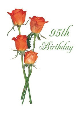 4378 95th Birthday Orange Roses, Religious