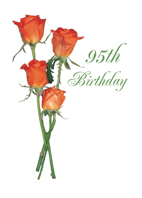 2723 95th Happy Birthday Orange Rose