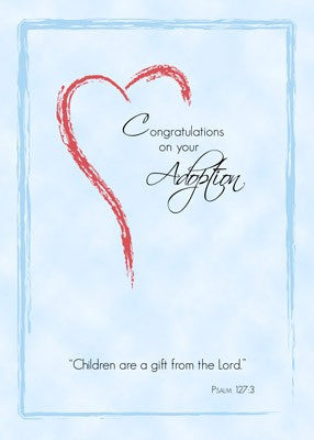4410 Boy Adoption, Blue Religious  Heart