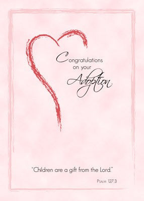 4409 Adoption of Girl,  Pink Heart, Religious