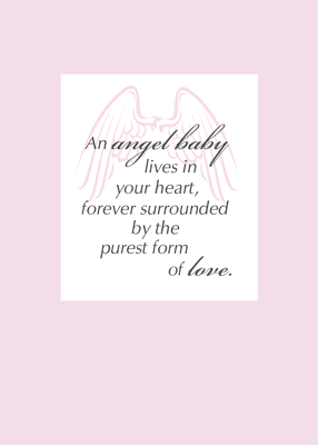 2651 Sympathy Loss of Baby, Infant Death Angel Wings