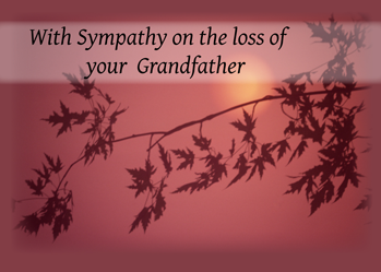 4083 Sympathy Loss of Grandfather