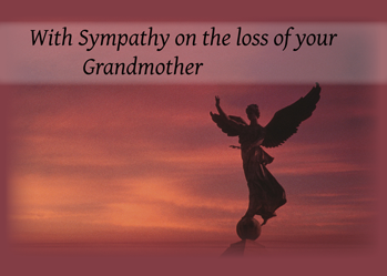 4082 Sympathy Angel Loss of Grandmother