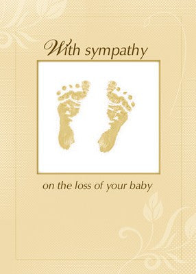 4351 Sympathy Loss of Baby, Footprints Neutral