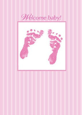 4157 baby girl footprints cards by sandra rose sandra rose designs