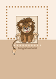 2661 Baby Lion Boy Congratulations