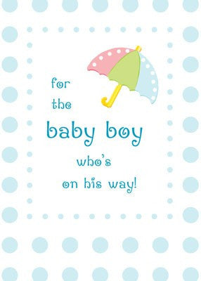 4257 Baby Boy Shower Blue Dots