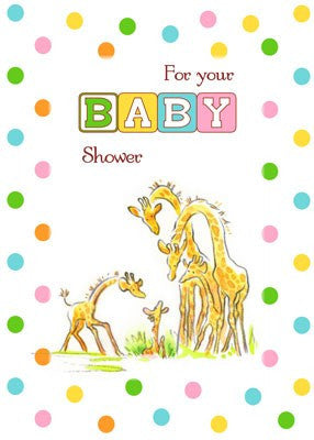 4251 Baby Shower Giraffe
