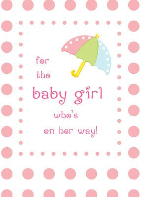 4256 Baby Girl Shower Pink Dots