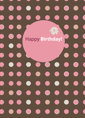 2695 Birthday Brown With Pink Dots