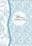 3456 Sister Mother's Day Blue Pattern