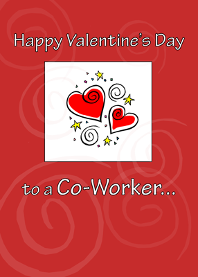 3577 Valentine's Day Co-Worker with Heart