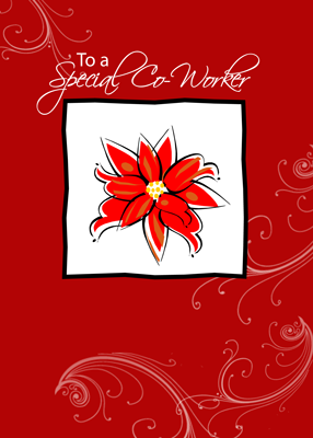 3410 Co-worker Poinsettia Christmas Wishes