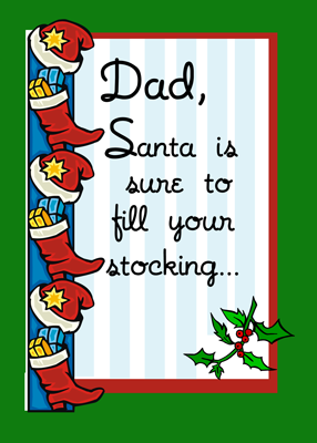3397 Dad, Santa Fills Stockings