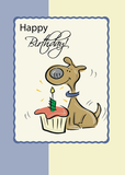 2747 Dog Cupcake Birthday, Whimsical