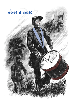 2808 Civil War Drummer Note