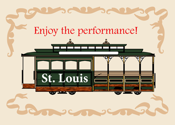 4061 Meet Me in St. Louis, Street Car, Musical