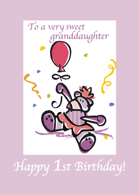 2709 1st Birthday Granddaughter Pink Bear