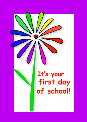 3722 First Day of School Flower