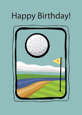 2729 Framed Golf Birthday