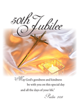 2682 Golden Jubilee, 50th Anniversary Religious Life for Nun, Candle and Cross