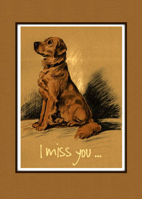 3794 Golden Retriever Dog Missing You