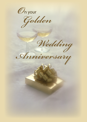 2594 Golden Wedding Anniversary Congratulations for Couple