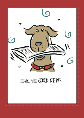 2666 Good News Dog Congratulations