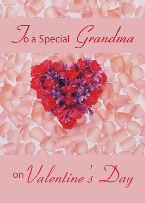 3555 Grandmother Valentine Heart Flowers