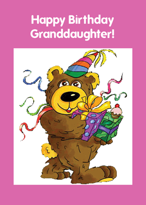 2710 Granddaughter Birthday Bear