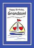 3416 Sailboat Grandson Birthday, Religious
