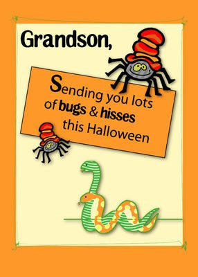 2884 Grandson Bugs and Hisses Halloween