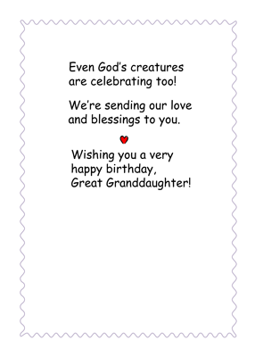 3542 Great Granddaughter Butterflies Birthday, Religious