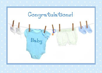 4310 Congratulations Baby Boy Clothes Cards By Sandra