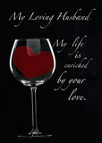 4090 Husband Anniversary Heart in Glass