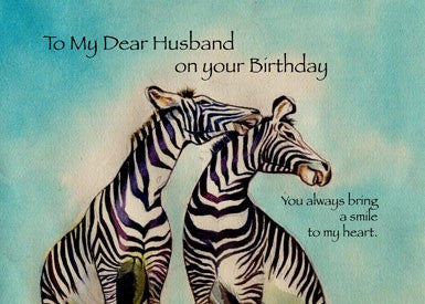 4089 Husband Birthday Zebras