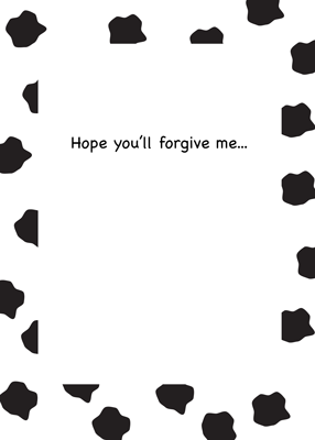 3935 I'm Sorry, Cow