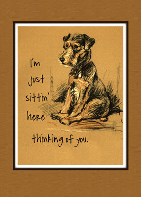 3805 Lakeland Terrier Dog Thinking of You Just Because
