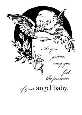 2670 Grieving Angel for Loss of Baby Sympathy